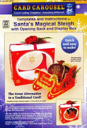 Santa's Magical Sleigh Gift Box Template From Card Carousel